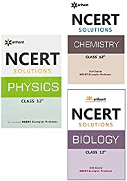 NCERT Solutions for Physics /Chemistry / Biology Class 12 (Set of 3 books)
