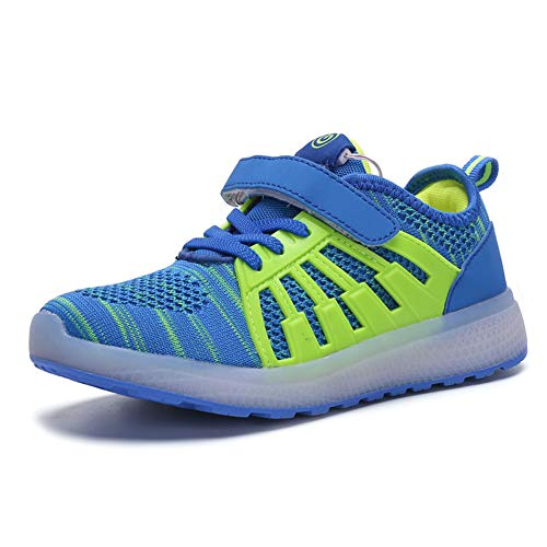 lowest price 004ca d26eb LHWAN Led Light Up Shoes, Boys Girls Led Light Up Sports Shoes Mesh  Trainers Cargador