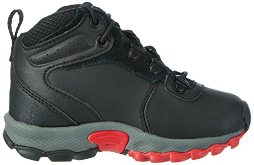 Columbia Childrens Newton Ridge, Chaussures de Randonnée Hautes Mixte Enfant Noir (Black, Mountain Red 010)