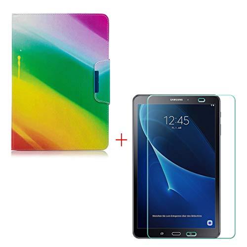 Szjckj Protector Pantalla + PU Carcasa Samsung Galaxy
