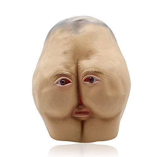 Hässliche Kostüm - AOLVO Ugly Maske, Naturlatex, Böse und Terror Gesichtsmaske für Mann und Frauen, realistische schreckliche Halloween, Maskenböse und Cosplay, Kostüm, Party-Dekoration, Requisiten Sexy Hip Mask