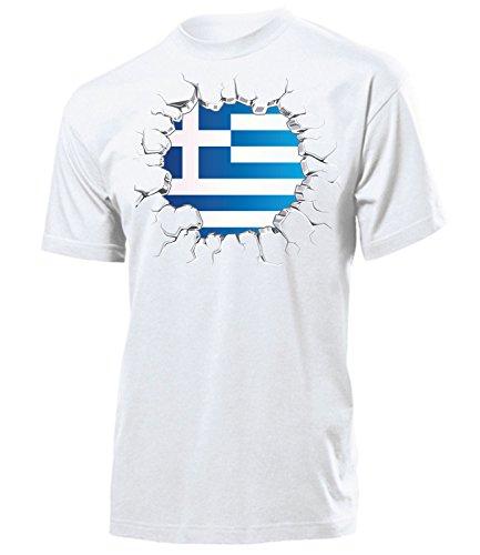 FUSSBALL – FANARTIKEL – Griechenland 5710 Herren T-Shirt (H) Gr. S