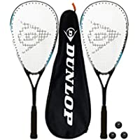 DUNLOP Biotec X-Lite Squashschläger x 2 + Schlägerhülle (2) + 3 Squash-Bälle (Verschiedene Optionen)