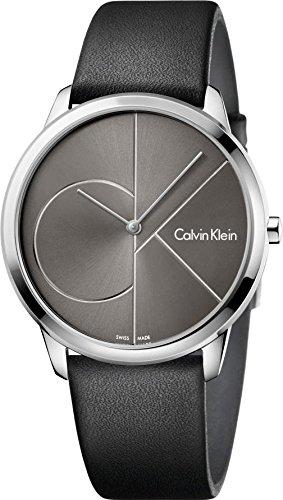 Calvin Klein Homme Analogique Quartz Montre avec Bracelet en Cuir K3M211C3