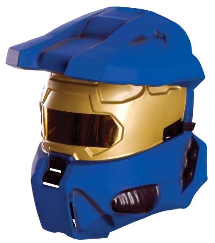 alo Blauer Spartaner Kostüm Halbmaske für Erwachsene (Blauer Spartaner Kostüm)