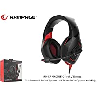 Rampage RM-K7 Kulaklık & Mikrofon, Siyah