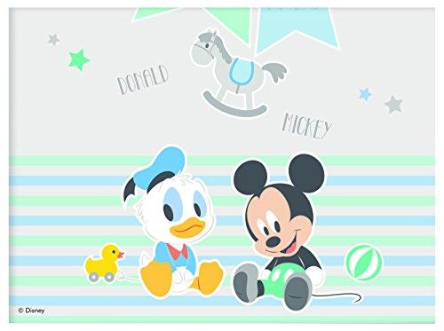 Procos 85591-Mantel plástico Baby Mickey & Donald, Azul/Blanco