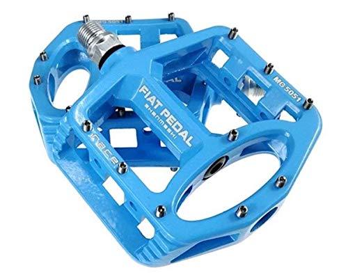 Evetin Ultra-Light Plattform Mountainbike/MTB / Flat Pedale, Magnesium Trekking Pedale Fahrrad mit Achsendurchmesser 9/16 Zoll für Universell BMX Mountain Bike Rennrad Trekkingrad 5051-1 (Blau)