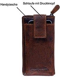 7daa3c6658e315 Geldbörse für Damen und Herren Echt-Leder mit Handytasche Großer Geldbeutel  mit RFID Schutz XL Portemonnaie in hochwertiger…