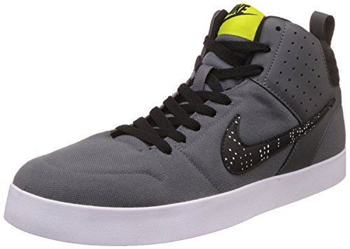 Nike Liteforce III Mid Dark Grey/Bright Cactus - Black-White Casual Shoes (6 UK/India)