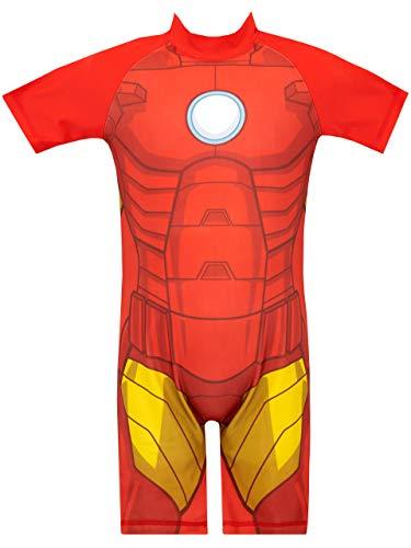 Marvel Costume da Bagno per Ragazzi Iron Man Rosso 2-3 Anni