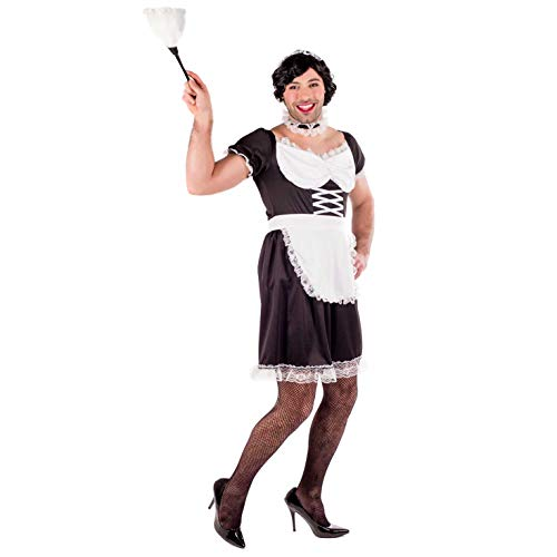 Französisch Adult Kostüm Dienstmädchen - Fun Shack Herren Costume Kostüm, French Maid, m