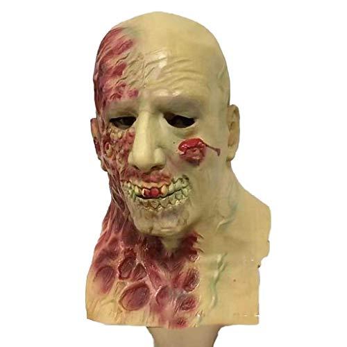 Xiao-masken Horror Rotten Zombie Teufel Schädeldecke Bloody Zombie Mask Melting Face Adult Latex Kostüm Halloween Scary (Bloody Ghost Face Kostüm)