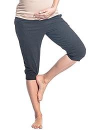 Zeta Ville - Pantalón capri premama banda elastica bolsillos - para mujer - 699c