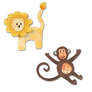 Sizzix thinlits cela, lion and monkey 8 pack by sizzix