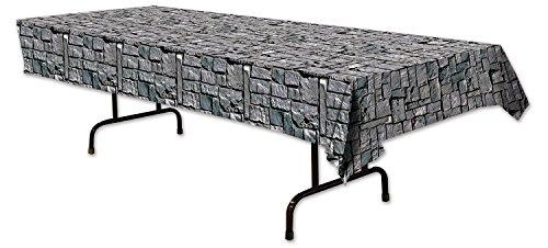 Beistle Tischdecke im Steinwand-Design, 137,2x 274,3cm, mehrfarbig