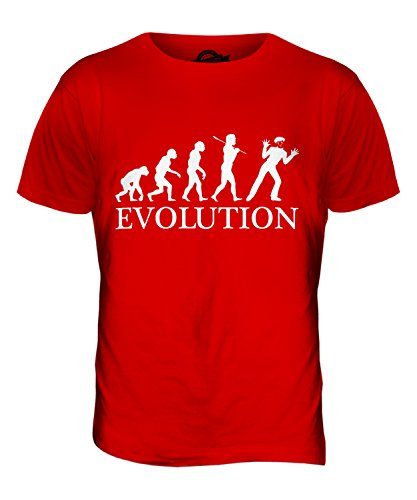 CandyMix Mime Evolution Des Menschen Herren T Shirt Rot