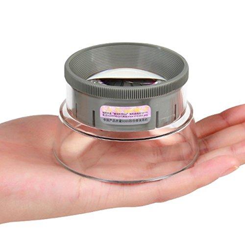 ZCXCC Leseglas Leselupen Augenmaskenart Lupe Zylinder Tragbar Tragbar Alter Mann Lesung 7X Optische Linse,Grey -