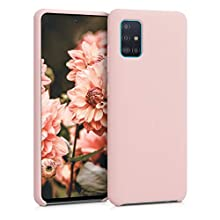 kwmobile TPU Silicone Case Compatible with Samsung Galaxy A51 - Soft Flexible Rubber Protective Cover - Antique Pink Matte
