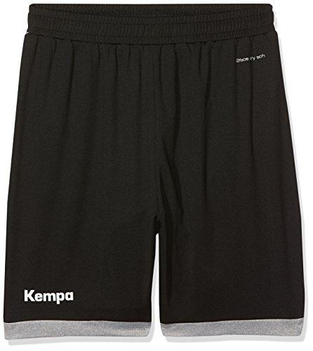 Kempa Kinder Core 2.0 Shorts, schwarz/Dark grau Melange, 152