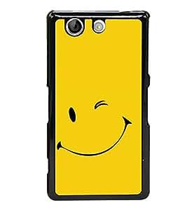 Smile 2D Hard Polycarbonate Designer Back Case Cover for Sony Xperia Z4 Compact :: Sony Xperia Z4 Mini