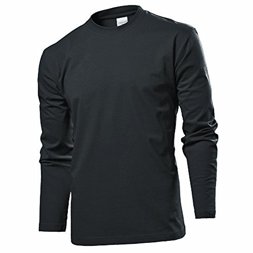 Langarm T-shirt Shirt von Stedman S M L XL XXL XXL verschiedene Farben M,Blackopal