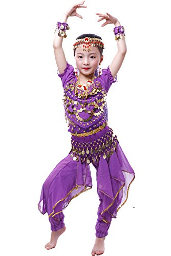 Astage Fille Carnaval Belly Dance Costume Haloween Oriental Cosplay Vêtements Violet M