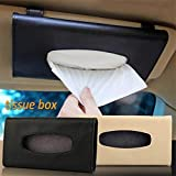 Berkemoon Car Sun Visor Tissue Box PU Leather Auto Clip Holder Paper Napkin Accessories