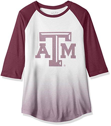 NCAA Damen Sublimated Baseball Tee, Damen, NCAA Women's Sublimated Baseball Tee, kastanienbraun, Small -