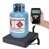 Báscula de refrigerante, báscula de carga de refrigerante, báscula electrónica digital de 220 lb/100 kg con estuche para carga de refrigerante, recuperación y pesaje de aire acondicionado comercial