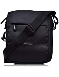 Adamson Unisex Black Travel Side Bags(ASB-078)
