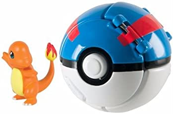 Pokemon POP-up Ball for All Ages Kids-Adults (Blue) with one Random Pikachu PVC Toy