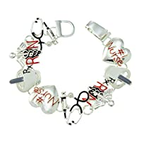 PammyJ Nurse Gifts for Women Bracelet RN Magnetic Closure Nurse Appreciation Gift