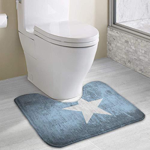 Vidmkeo Cloth Somalia Flag Grunge Contour Bath Rug, U-Shaped Polyester Toilet Floor Mat Non Slip Bathroom Shower Carpet - Us-indoor-flag