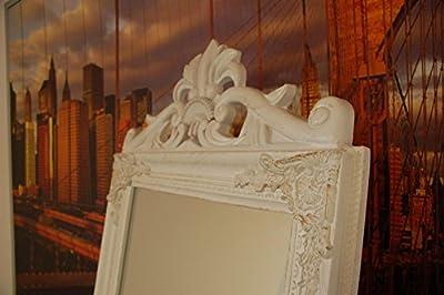 Standspiegel Weiß 180 x 45 cm Landhaus antik Barock Wandspiegel Spiegel Shabby Chic neu