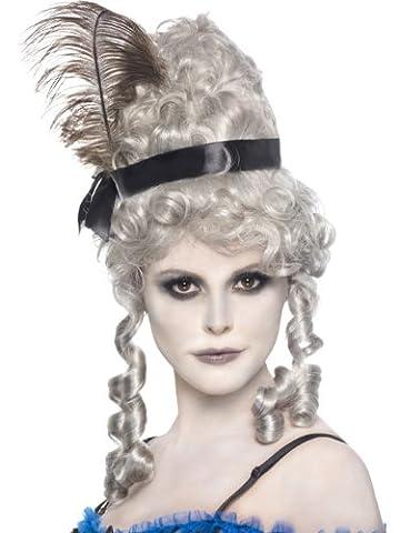 Graue Geister Saloon Girl Perücke (Graue Geist Kostüm)