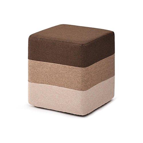 Kreative Fußbank Wohnzimmer Sofa Dressing ändern Schuhe Hocker gepolstert Fuß Hocker Hocker Fußstütze Kleiner Stuhl Sitz Hocker Lagerung Sitzsack Fußstütze (braun) stabil (größe : Platz)