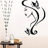 sanzangtang Adesivo murale Bella Ragazza Decorazione Camera da Letto della Moderna Decorazione del Salone di Bellezza Carta da Parati murale in Vinile Rimovibile M 30 cm X 44 cm