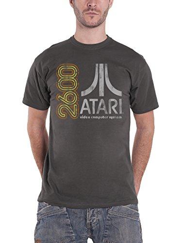 dd765d9e2 Atari T Shirt 2600 Retro Gaming Vintage Nuovo Ufficiale Uomo Grigio