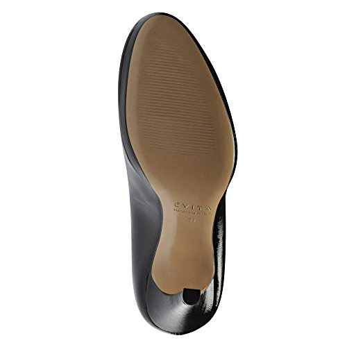 CRISTINA escarpins femme cuir verni imprimé Noir