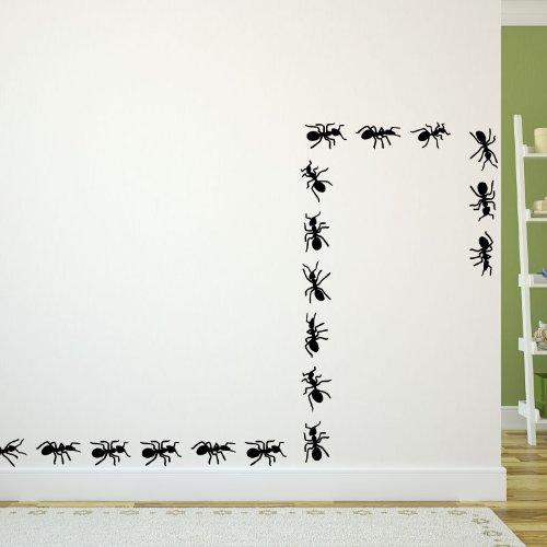 Ambiance-Live Sticker Mural fourmis en marche - 55 x 155 cm, Argent