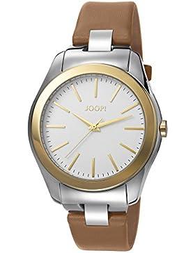 Joop! Damen-Armbanduhr Golden Leather Analog Quarz Leder JP101892001