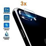 3X Protector de Pantalla para Cámara Trasera iPhone 8 Plus - iPhone 7 Plus, Cristal Vidrio Templado Premium, Electrónica Rey