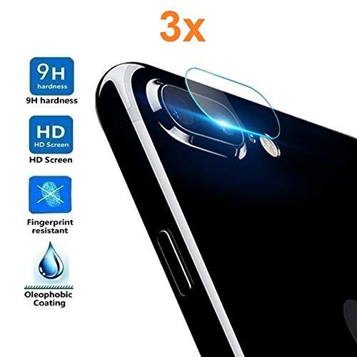 3X Protector de Pantalla para Cámara Trasera iPhone 8 Plus - iPhone 7 Plus,...