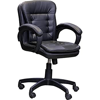 Nice Goods Leatherette Arm Chair (Black)