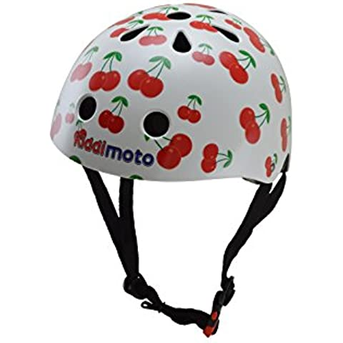 Kiddimoto Cherry Medium - Casco de ciclismo infantil para bicicleta BMX, color multicolor ( 53 - 58 cm