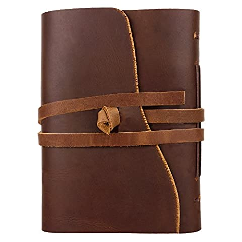Handmade Traditional Genuine Leather Cover Personal Plain Journal Diary Notebook for Business Work School for everyday use for Men and Women with Vintage Antique Look Gift from Indian