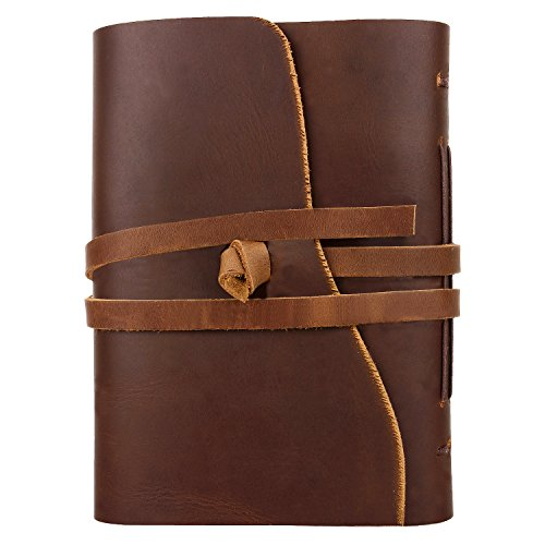 Handmade Traditional Genuine Leather Cover Personal Plain Journal Diary Notebook for Business Work School for everyday use for Men and Women with Vintage Antique Look Gift from Indian Artist