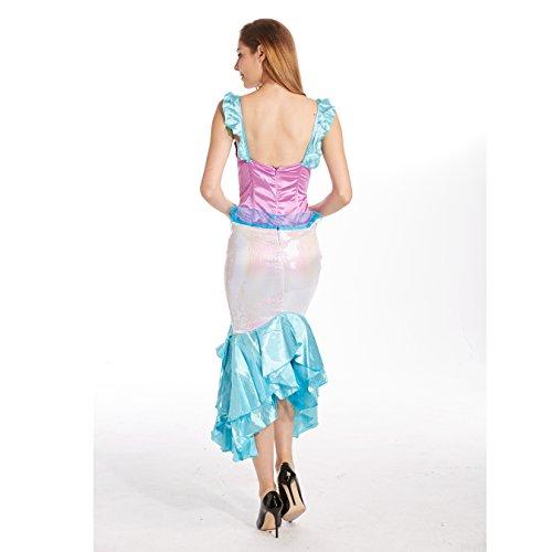 Frauen Sexy Meerjungfrau Halloween Kostüm BLUE1089
