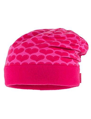 maximo 63500-943700, Bonnet Fille Multicolore - Mehrfarbig (hellfuchsia - rote Herzen 19)